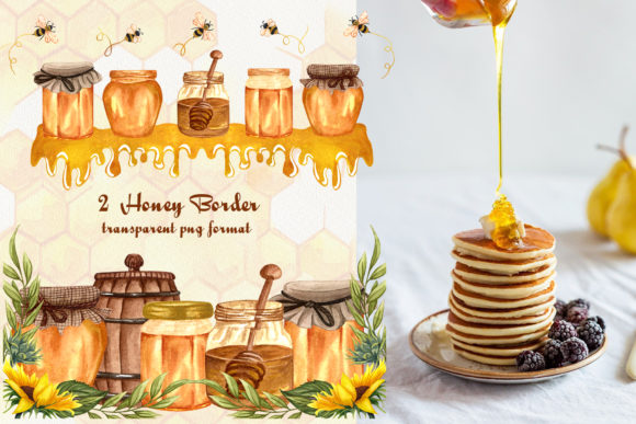 Bee Honey Watercolor Clip Art Graphic Illustrations By BarvArt - Image 6