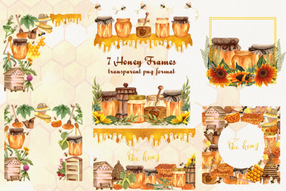 Bee Honey Watercolor Clip Art Graphic Illustrations By BarvArt - Image 8