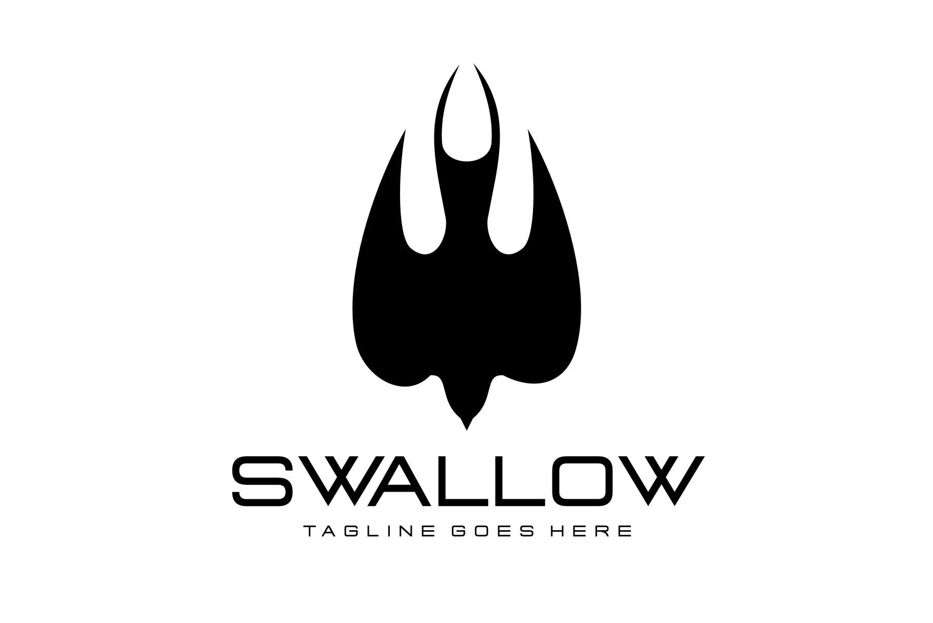 21+ Black Swallow Logo