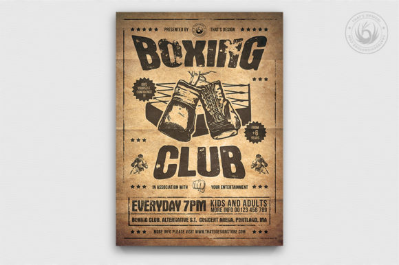 Download Free Boxing Classes Flyer Template V2 Graphic By Thatsdesignstore SVG Cut Files