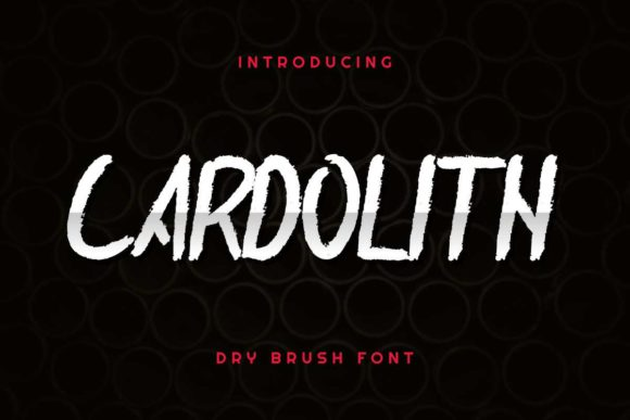 Print on Demand: Cardolith Script & Handwritten Font By EdricStudio