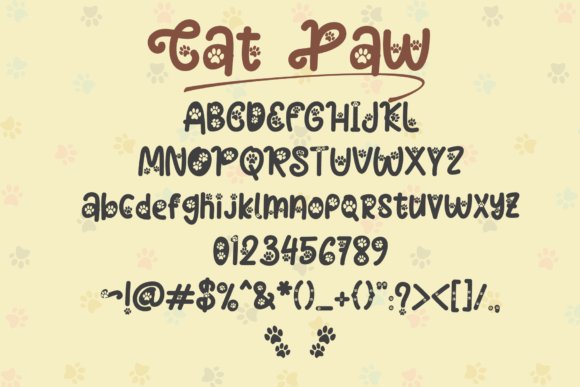 Cat Paw Font Preview