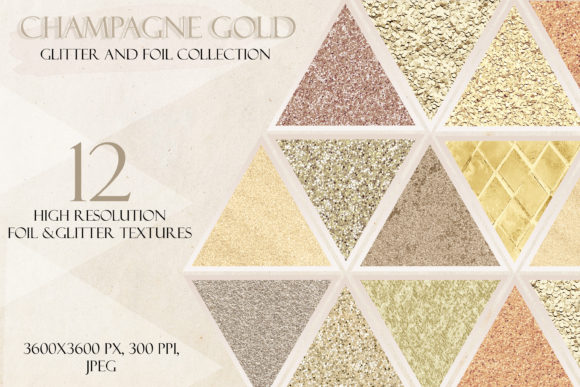 Champagne Gold Glitter Digital Paper Graphic Textures By liquid amethyst art