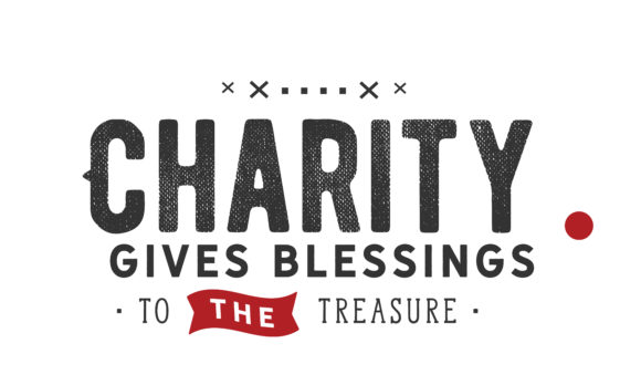 Download Free Charity Gives Blessings Graphic By Baraeiji Creative Fabrica for Cricut Explore, Silhouette and other cutting machines.