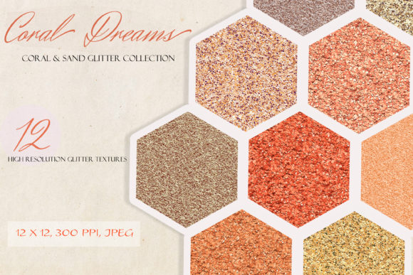 Download Free Coral Dream Glitter Foil Textures Graphic By Liquid Amethyst SVG Cut Files