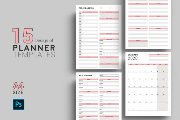 Daily / Weekly Planner , Psd and JPG Graphic Print Templates By sistecbd