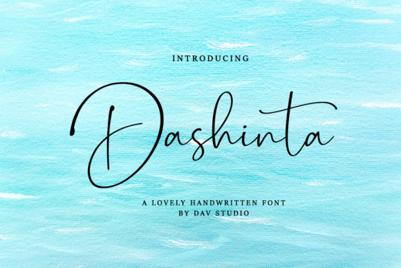 Print on Demand: Dashinta Script & Handwritten Font By Dav studio