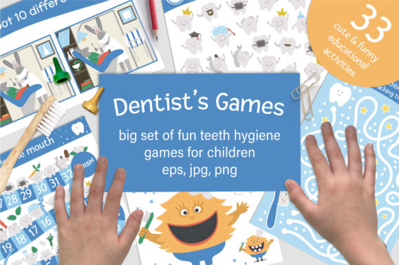Download Free Dentist S Games Graphic By Lexiclaus Creative Fabrica for Cricut Explore, Silhouette and other cutting machines.