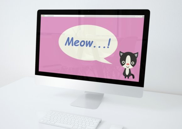 Download Free Desktop Wallpaper Cat Pink Graphic By Studioisamu Creative Fabrica for Cricut Explore, Silhouette and other cutting machines.