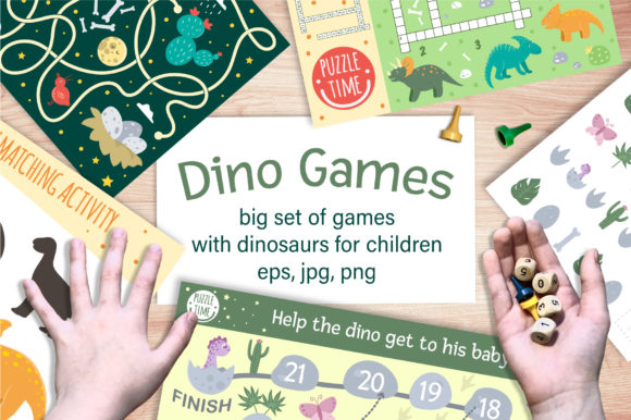 Dino Games Graphic Teaching Materials By lexiclaus