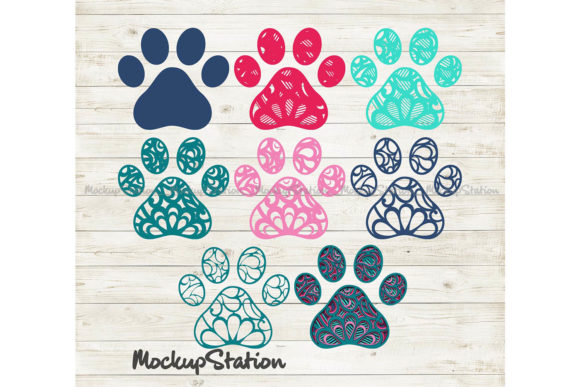 Print on Demand: Dog Paw 3D Layered Mandala   Graphic 3D SVG By Mockup Station - Image 2