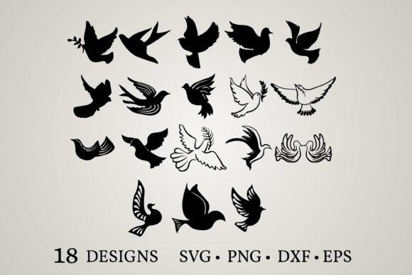 Download Free Dove Bundle Graphic By Euphoria Design Creative Fabrica for Cricut Explore, Silhouette and other cutting machines.