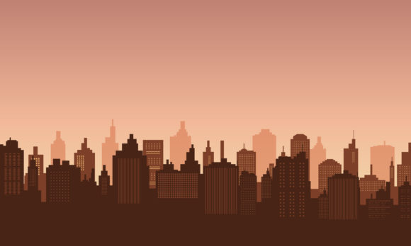 Download Free Downtown With Afternoon Sky Graphic By Cityvector91 Creative for Cricut Explore, Silhouette and other cutting machines.
