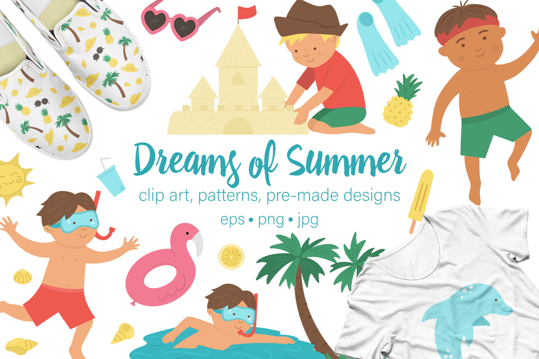Download Free Dreams Of Summer Graphic By Lexiclaus Creative Fabrica for Cricut Explore, Silhouette and other cutting machines.