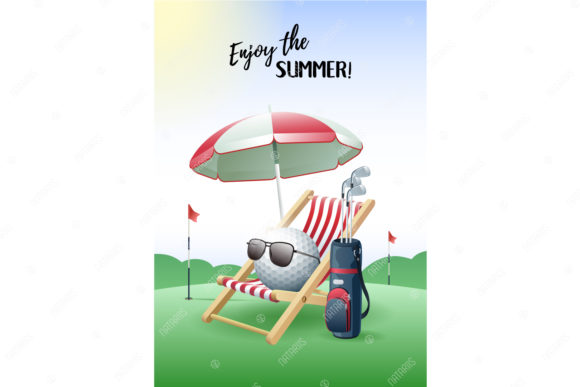 Download Free Enjoy The Summer 2 Sport Cards Golf Graphic By Natariis for Cricut Explore, Silhouette and other cutting machines.
