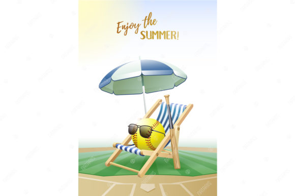 Download Free Enjoy The Summer 2 Sport Cards Softball Graphic By Natariis SVG Cut Files