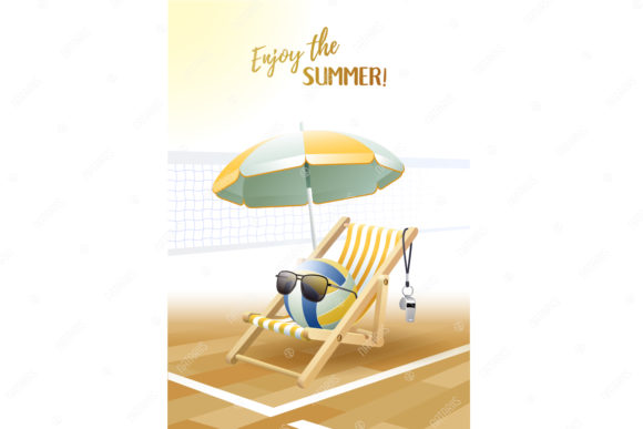 Enjoy The Summer 2 Sport Cards Volley Graphic By Natariis