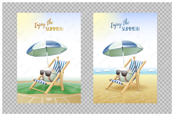 Download Free Enjoy The Summer Sport Cards Baseball Graphic By Natariis for Cricut Explore, Silhouette and other cutting machines.