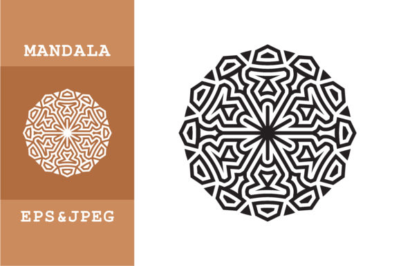 Download Free Ethnic Mandala Art Ornament Graphic By Mbahsinyo Creative Fabrica for Cricut Explore, Silhouette and other cutting machines.