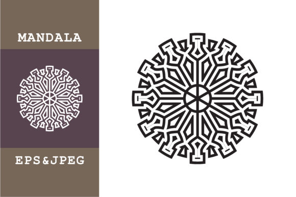 Download Free Ornaments Mandala Geometric Graphic By Mbahsinyo Creative Fabrica for Cricut Explore, Silhouette and other cutting machines.