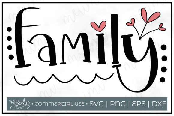Download Free Family Cut File Printable Graphic By Meiimi Creative Fabrica for Cricut Explore, Silhouette and other cutting machines.