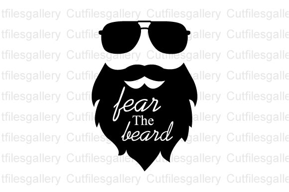 Download Free Fear The Beard Graphic By Cutfilesgallery Creative Fabrica for Cricut Explore, Silhouette and other cutting machines.