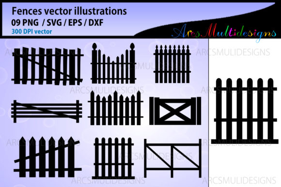 Print on Demand: Fence Graphics Graphic Illustrations By Arcs Multidesigns