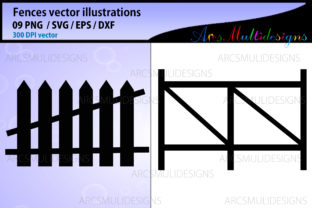 Print on Demand: Fence Graphics Graphic Illustrations By Arcs Multidesigns 3