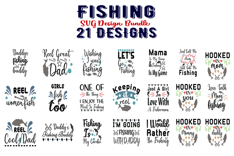 Download Free Fishing Bundle Part 2 Graphic By Design Store Creative Fabrica for Cricut Explore, Silhouette and other cutting machines.
