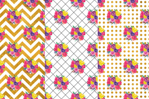 Download Free Floral Digital Papers Graphic By Bonadesigns Creative Fabrica SVG Cut Files