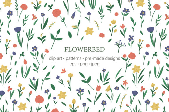 Flowerbed Graphic Illustrations By lexiclaus
