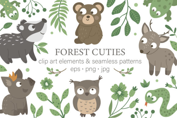 Forest Cuties Graphic Illustrations By lexiclaus