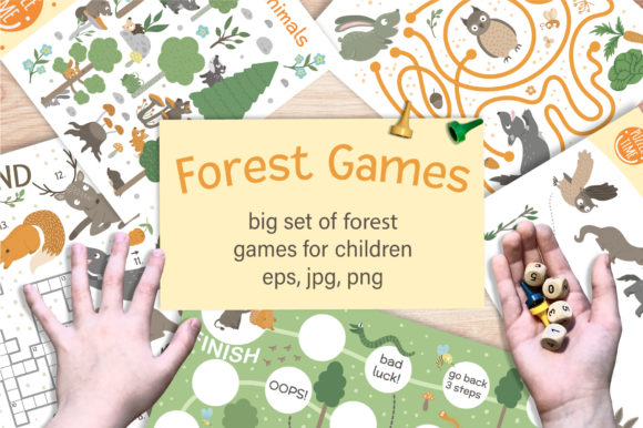 Forest Games Graphic Teaching Materials By lexiclaus
