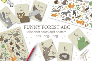Funny Forest ABC Graphic Illustrations By lexiclaus