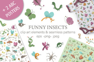 Funny Insects Graphic Illustrations By lexiclaus