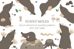 Funny Moles Graphic Illustrations By lexiclaus