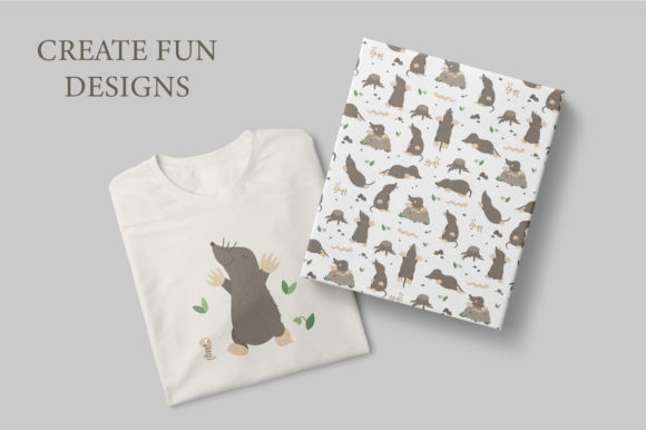 Download Free Funny Moles Graphic By Lexiclaus Creative Fabrica for Cricut Explore, Silhouette and other cutting machines.