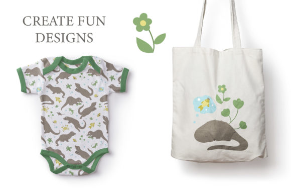 Download Free Funny Otters Graphic By Lexiclaus Creative Fabrica for Cricut Explore, Silhouette and other cutting machines.