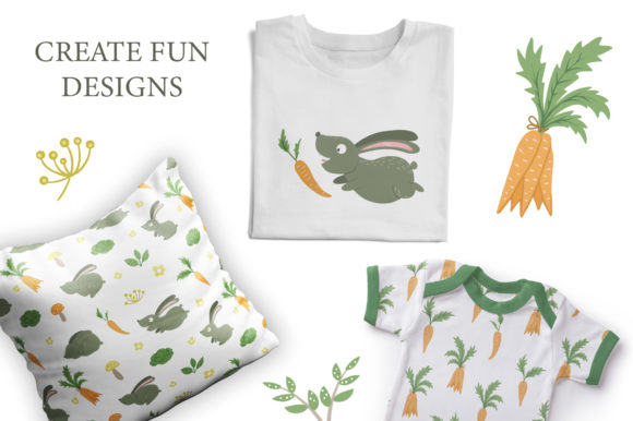 Download Free Funny Rabbits Graphic By Lexiclaus Creative Fabrica for Cricut Explore, Silhouette and other cutting machines.