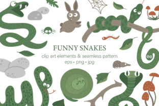 Download Free Funny Snakes Graphic By Lexiclaus Creative Fabrica for Cricut Explore, Silhouette and other cutting machines.