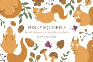 Funny Squirrels Graphic Illustrations By lexiclaus