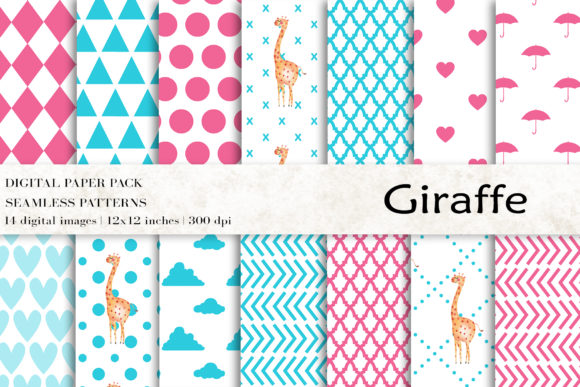 Download Free Giraffe Animal Digital Papers Graphic By Bonadesigns Creative Fabrica SVG Cut Files