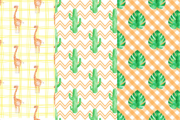 Download Free Giraffe Digital Papers Graphic By Bonadesigns Creative Fabrica for Cricut Explore, Silhouette and other cutting machines.