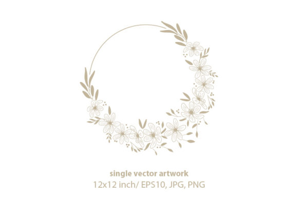 Download Free Golden Floral Branches Graphic By Biljanacvetanovic Creative for Cricut Explore, Silhouette and other cutting machines.