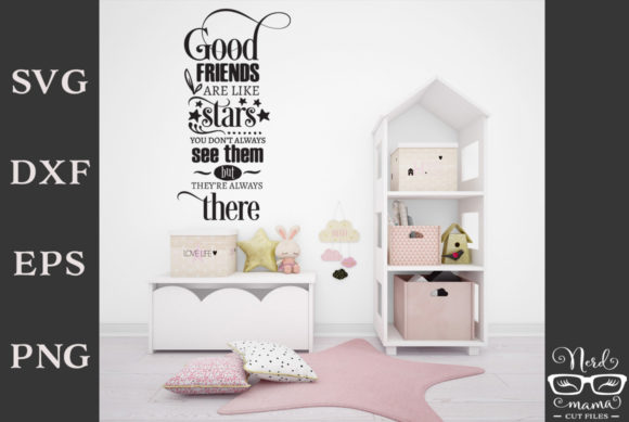 Print on Demand: Good Friends Quote Cut File Graphic Crafts By Nerd Mama Cut Files