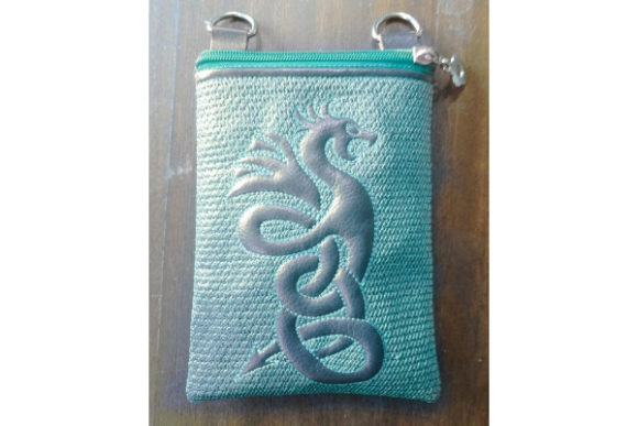 Great Dragon Zippered Bag Sewing & Crafts Embroidery Design By ImilovaCreations - Image 2