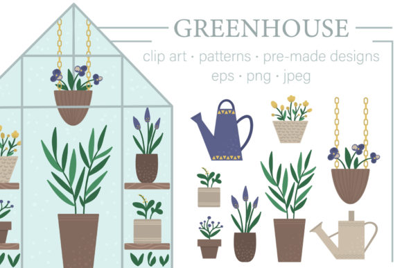 Greenhouse Graphic Illustrations By lexiclaus