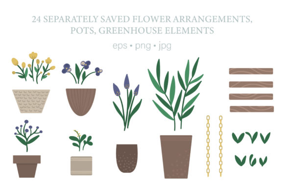 Download Free Greenhouse Graphic By Lexiclaus Creative Fabrica for Cricut Explore, Silhouette and other cutting machines.