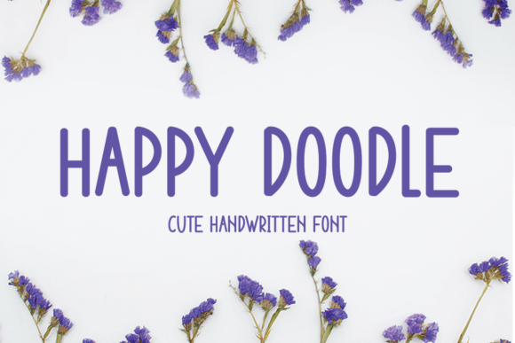 Download Free Happy Doodle Font By One Design Creative Fabrica for Cricut Explore, Silhouette and other cutting machines.