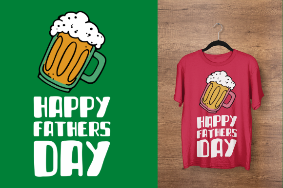 Download Free Happy Father S Day Beer Design Graphic By Endlessgraphical for Cricut Explore, Silhouette and other cutting machines.